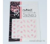 Наклейки для дизайна ногтей 3D (цветы) №1645