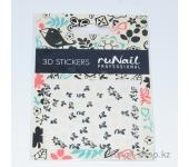 Наклейки для дизайна ногтей 3D (бабочки) №1651