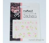 Наклейки для дизайна ногтей 3D (цветы) №1655