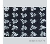 Наклейки для дизайна ногтей 3D (белые цветы) №1665