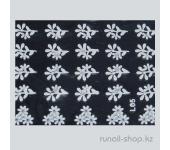 Наклейки для дизайна ногтей 3D (белые цветы) №1666