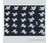 Наклейки для дизайна ногтей 3D (белые цветы) №1679