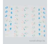 Наклейки для дизайна ногтей 3D (цветы) №1683