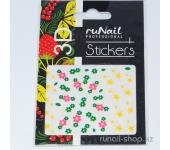 Наклейки для дизайна ногтей 3D (цветы и звездочки) №1692