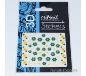 Наклейки для дизайна ногтей 3D (цветы) №1694