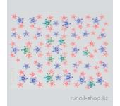 Наклейки для дизайна ногтей 3D (цветы) №1700
