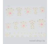 Наклейки для дизайна ногтей 3D (узоры) №1703