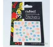 Наклейки для дизайна ногтей 3D (цветы) №1711