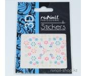 Наклейки для дизайна ногтей 3D (цветы) №1715