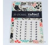 Наклейки для дизайна ногтей 3D (знаки зодиака) №1741
