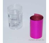 Фольга дизайнерская для ногтей (малиновый, голографический), 1,5 м