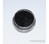 Пыль для ногтей (черный, матовый)