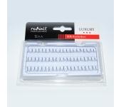 Пучки для наращивания ресниц с узелками Luxury, шёлк Ø 0,10 мм, №12