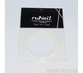 Самоклеющаяся лента для дизайна ногтей (белая), 20 м