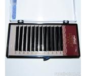 Ресницы для наращивания Luxury, Ø 0,10 мм, №12, изгиб D, 12 линий