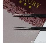 Пинцет для ресниц Edge Luxury (прямой, цвет: черный)