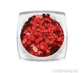 Дизайн для ногтей: пайетки голографические (цвет: красный)