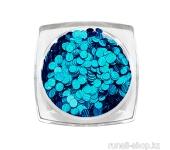 Дизайн для ногтей: пайетки голографические (цвет: синий)
