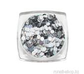 Дизайн для ногтей: пайетки голографические (цвет: серебряный)