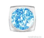 Дизайн для ногтей: 3D ромбы (цвет: голубой топаз)