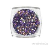 Дизайн для ногтей: блестки mix (цвет: фиолетовый)