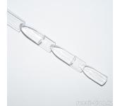 Палитра веерная тройная для лаков (прозрачная), 24 шт
