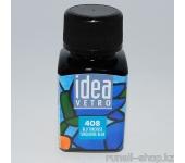 Витражные краски для ногтей Idea Vetro - №408 сине-бирюзовый,10мл