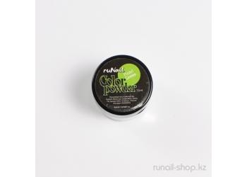 Цветная акриловая пудра (пастельный тон, зеленая, Pastel Green), 7,5 г
