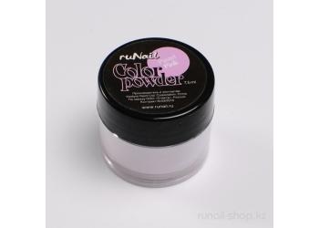 Цветная акриловая пудра (пастельный тон, розовая, Pastel Pink), 7,5 г