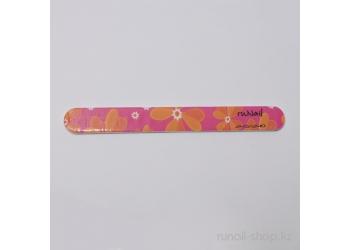 Пилка для натуральных ногтей, цветная закругленная (240/240)