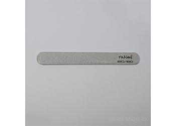 Пилка для искусственных ногтей (серая, закруглённая, 180/180)