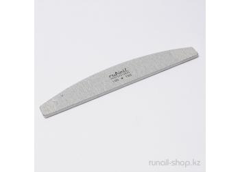 Пилка для искусственных ногтей (серая, полукруглая, 100/180)