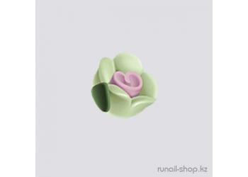 Пластиковые цветы для ногтей (чайная роза, салатовый)