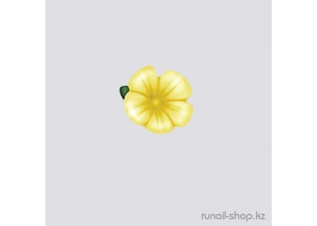 Пластиковые цветы для ногтей (вьюнок, ярко-желтый)