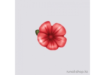 Пластиковые цветы для ногтей (вьюнок, красный)
