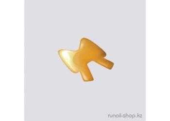 Дизайн для ногтей: бантики из ткани для ногтей (желтый)