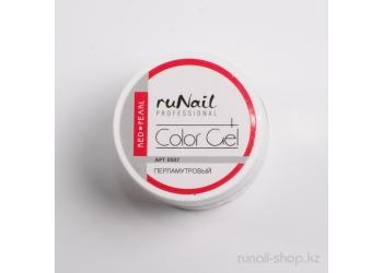 Цветной УФ-гель (с перламутром, Красный жемчуг, Red Pearl ), 7,5 г