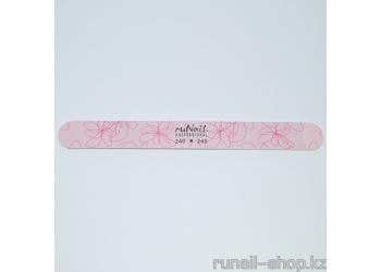 Профессиональная пилка для натуральных ногтей, цветная закругленная (240/240)