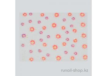 Наклейки для дизайна ногтей 3D (цветы) №1727