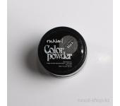 Цветная акриловая пудра (с блёстками, черная, Sparkling Black), 7,5 г