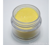 Цветная акриловая пудра (с блёстками, желтая, Sparkling Yellow), 7,5 г