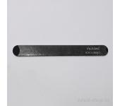 Пилка для искусственных ногтей (чёрная, закруглённая, 100/180)