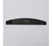 Пилка для искусственных ногтей (чёрная, полукруглая, 100/100)