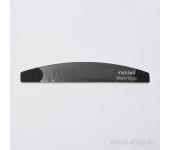 Пилка для искусственных ногтей (чёрная, полукруглая, 150/150)