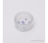Пластиковые цветы для ногтей (чайная роза, синий)