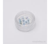 Пластиковые цветы для ногтей (вьюнок, ярко-голубой)
