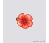 Пластиковые цветы для ногтей (вьюнок, оранжевый)
