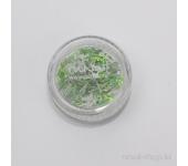 Дизайн для ногтей: бантики из ткани для ногтей (светло-зеленый)