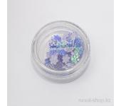 Дизайн для ногтей: цветы из ткани для ногтей(темно-сиреневый)