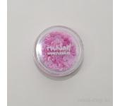 Дизайн для ногтей: сердечки из ткани для ногтей(розовый)